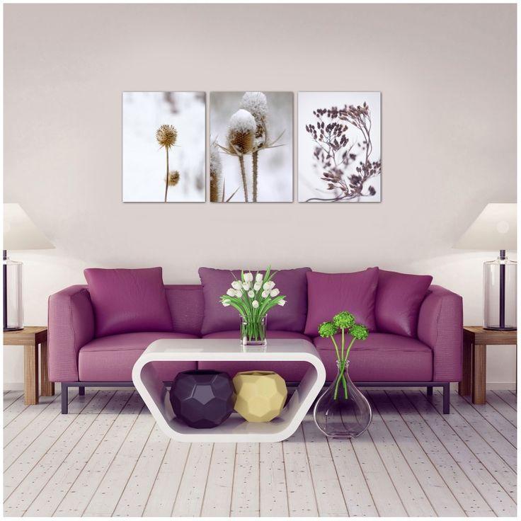 Zestaw roślinność, Obraz na płótnie - Canvas