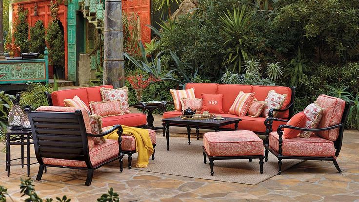 British Colonial Sofa with Cushions - a possibility for deck ...