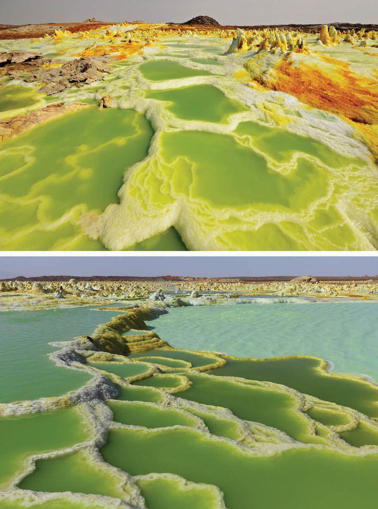 ダロル火山(エチオピア、ダナキル砂漠) 違う星みたい…地球とは思えない絶景30選