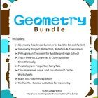 Are you teaching Geometry? This bundle includes ALL of the geometry products in my store at an incredible savings of 55% off the price if you were purchasing separately. Task Cards, Bingo, Holiday activities, reviews, worksheets, quizzes, and projects at your fingertips. All answer keys included.