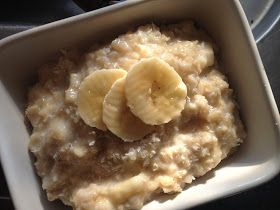 Hummm ce porridge m'a transporté dans les îles!! il est délicieux et si doux avec le mélange banane et lait de coco...!