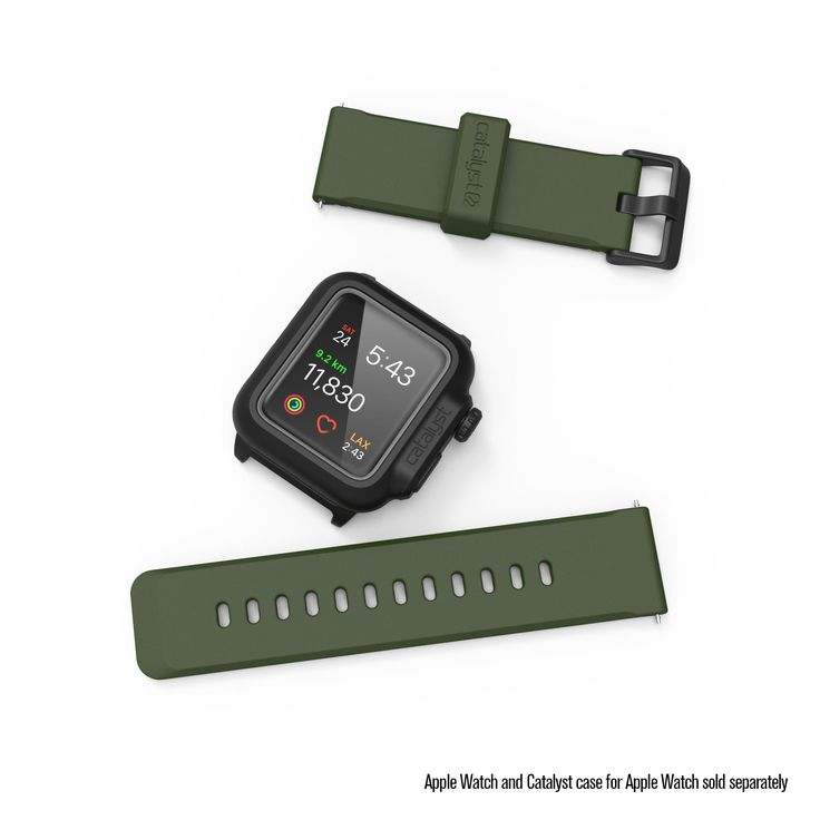 Catalyst Soft Premium Waterproof 24mm Silicone Band For Apple Watch 42mm Series 1, 2 & 3 (Army Green). PREMIUM QUALITY: The Catalyst waterproof band is made of high quality premium dust resistant silicone. Stainless steel makes the buckle closure corrosion resistant. PERFECT FOR: 42mm Series 1, 2 & 3 and the length of the watch and straps is 9.5 inches. The width of the strap is 24 mm. GREAT WEARING EXPERIENCE: The Catalyst premium silicone band is flexible, soft and comfortable against…