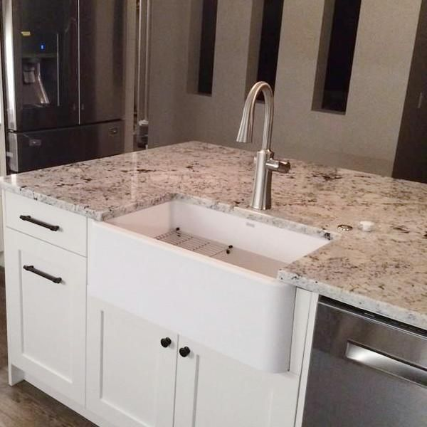 Blanco Ikon 33 Single Bowl Farmhouse Apron Sink White 401899