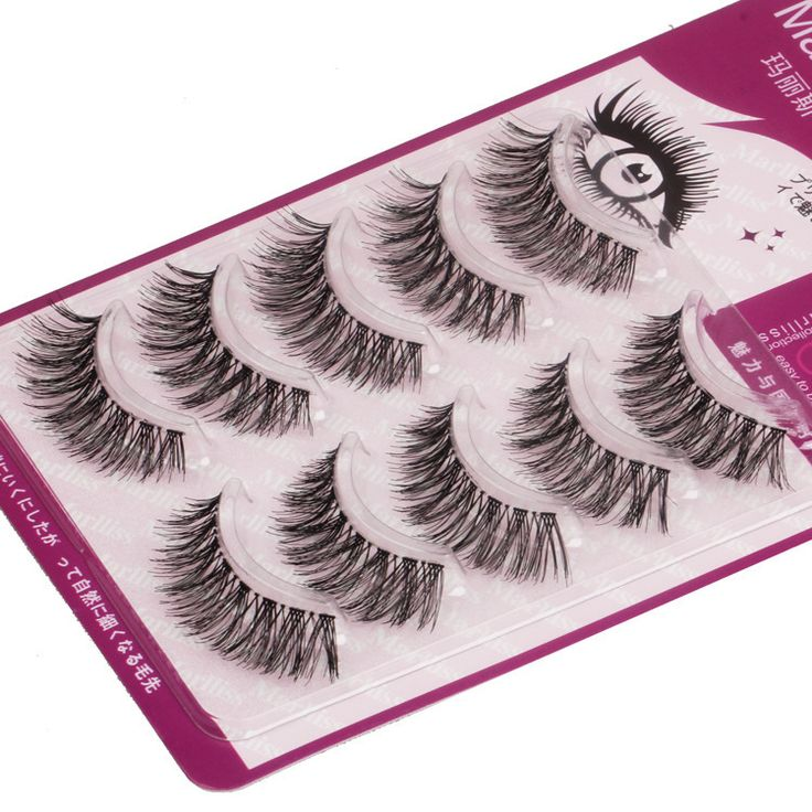 Cilios Posticos Natural Thick Long Fake False Eyelashes Mink Lashes Individual Wimper Extensions Faux Cilios Makyaj Kit S-11
