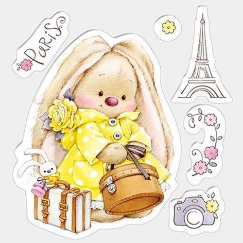 Motiv-Stempel-Bunny-Paris-Haeschen-Hase-Eiffelturm-Urlaub-ScrapBerrys-SCB4902003