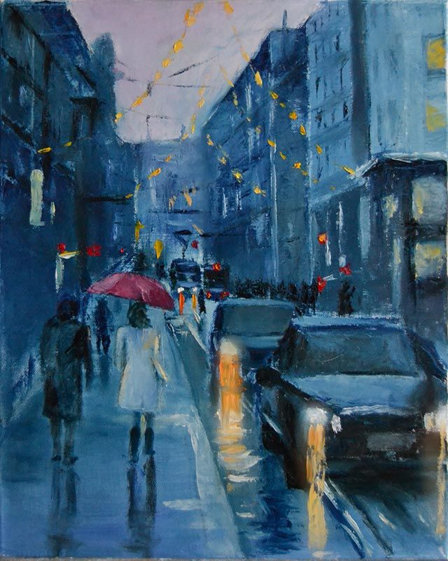 Peter Valve: Helsinki cityscape, oil painting