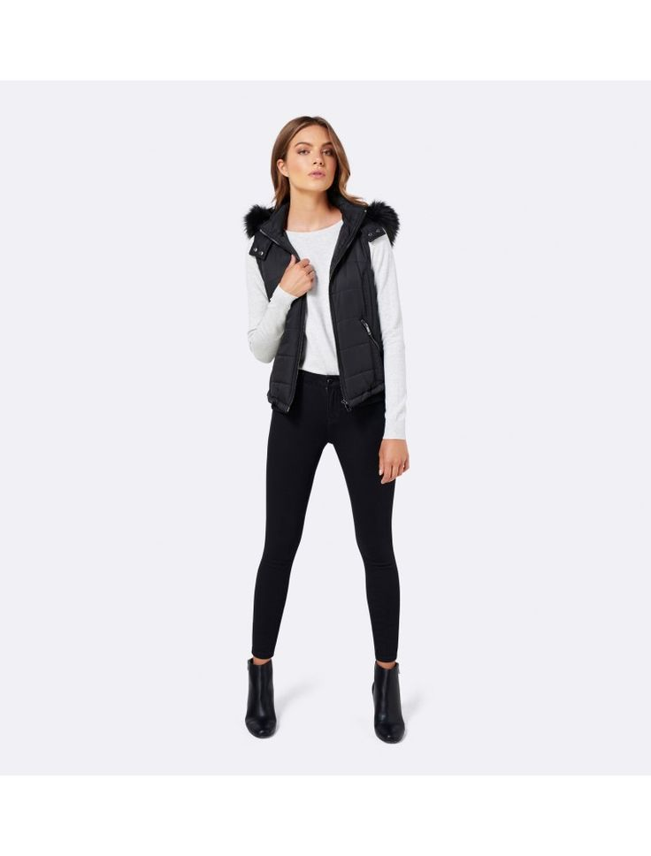 Georgia gilet Black - Womens Fashion | Forever New