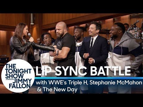 Tag-Team Lip Sync Battle with WWE's Triple H, Stephanie McMahon and The New Day - YouTube