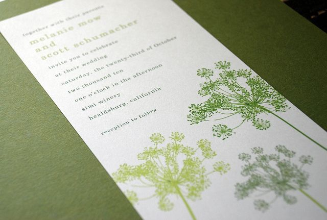 same graphic, diff shades: Modern Gardens, Green And Gray, Lace Invitations, Modern Wedding, Gray Queen, Wedding Invitations, Lace Prints, Gardens Wedding, Queen Anne Lace