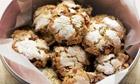Cranberry chocolate snow cookies