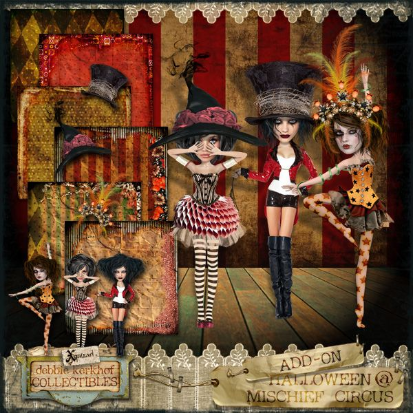 my part of the freebie add-on kit for the 'Halloween at Mischief Circus' Collaboration