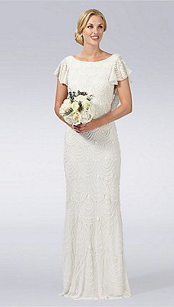 Ivory hand-embellished wedding dress http://www.weddingheart.co.uk/debenhams---wedding-dresses.html