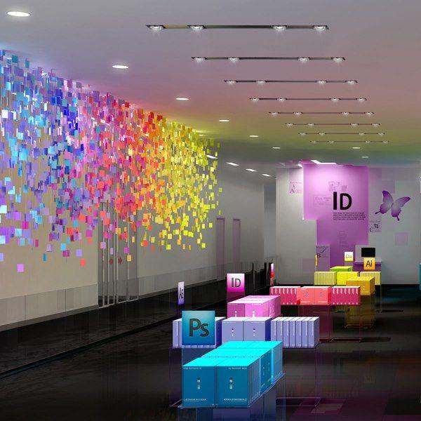 D ndole colorido a las oficinas de adobe tiempo de for Decoracion oficina creativa