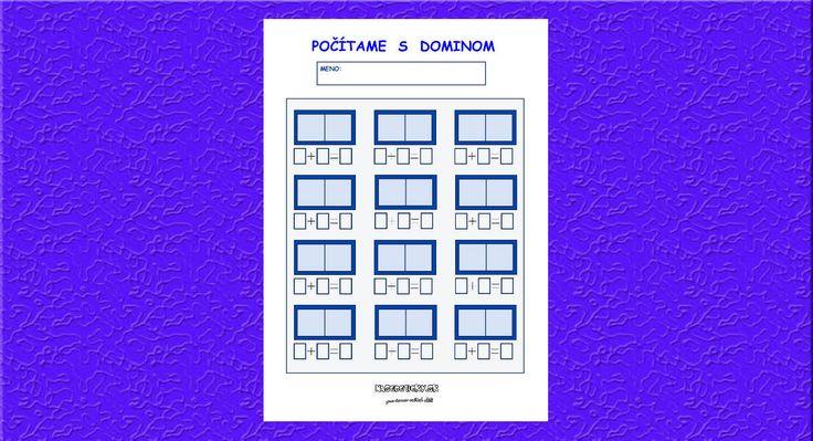 Tento pracovný list vám prináša zábavný spôsob, ako si zopakovať jednoduché sčítavanie pomocou domina. Čáry, máry, fuk! Pozor, začíname 🙂 Vložte si domino do nejakého klobúka, misky alebo krabičky a zábava sa môže začať. Dieťa si vylosuje príslučný počet domino kociek, položí si ich na pracovný list, spočíta bodky, zapíše čísla a vyráta príklad. Ak …