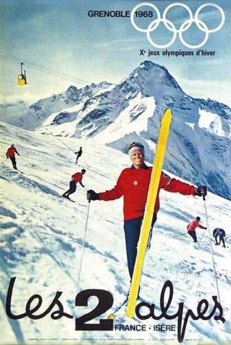 Grenoble 1968 - Les deux Alpes - Isère - France -
