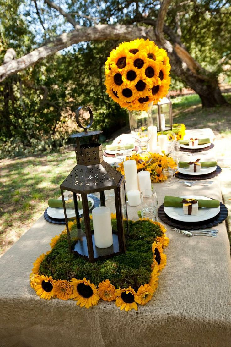 Sunflower Decorations For Weddings | Posted By Daranesha Burkart At 7:54 PM