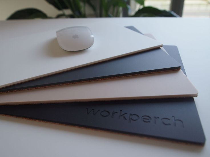 WorkPerch - Mouse pad made with high quality matt finish soft touch acrylic.Colours available: Moonlight White, Midnight