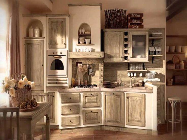 Excellent una cucina in muratura originale with come - Come rinnovare una cucina in legno ...