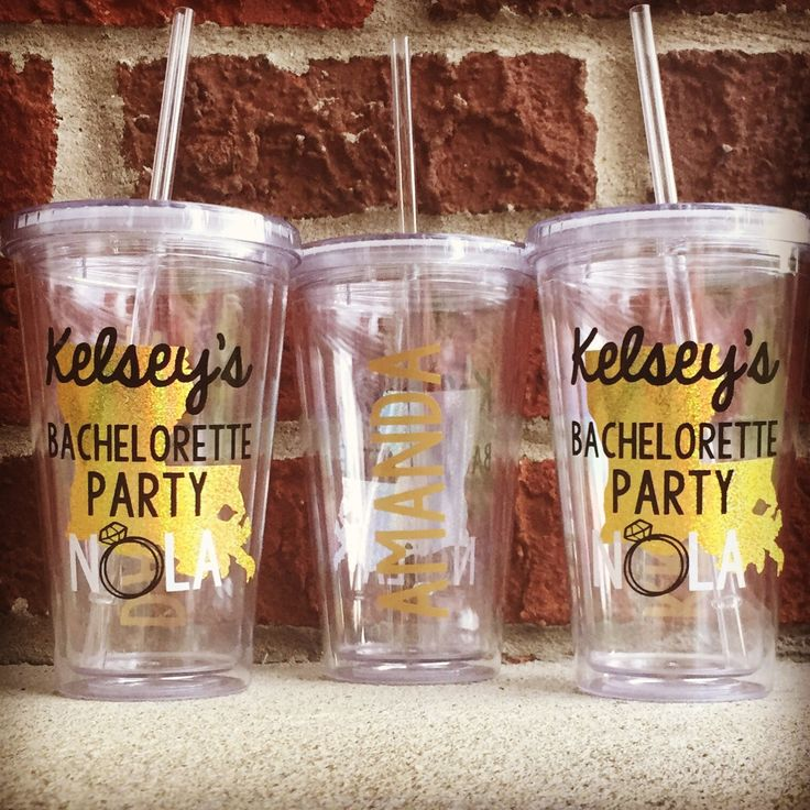 NOLA Bachelorette Party Tumblers New Orleans Favors Cup By