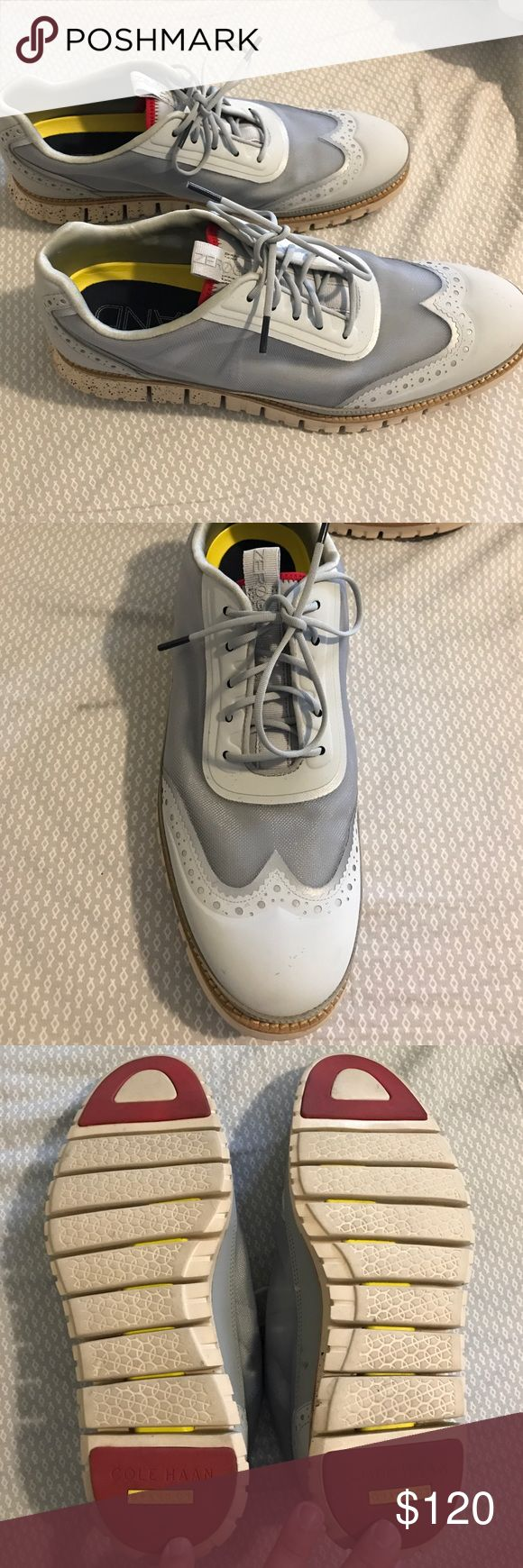 Men's Cole haan zero grand grey mesh sneakers Men's Cole haan zero grand grey mesh sneakers with leather and vinyl trim. Size 10.5. Barely worn Cole Haan Shoes Sneakers