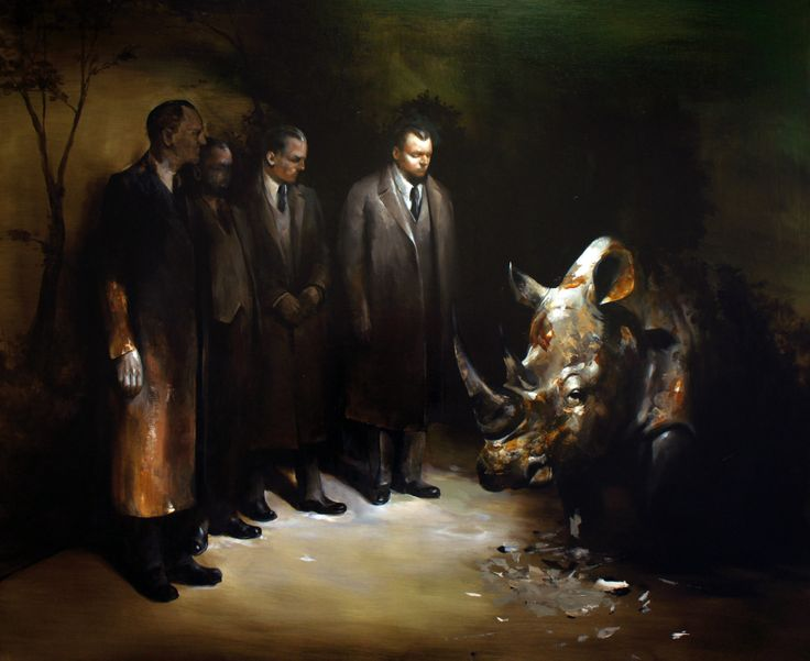 "Radu Belcin (the husband of Flavia Pitis) ""Unfulfilled Hopes"", oil on canvas. An exhibition with the same name can be seen at Oxholm Gallery in March 2014."