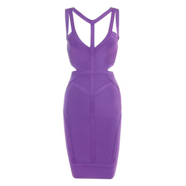 Free Shipping Womens 2016 New Cocktail Party  Dresses Sexy Cut Out Purple Bandage Dress #Affiliate