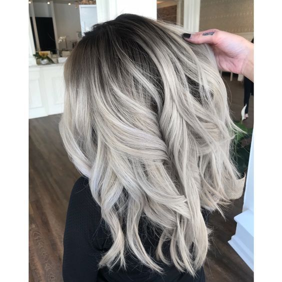 Ash-Toned Platinum Blonde – #AshToned #beauty #Blo…