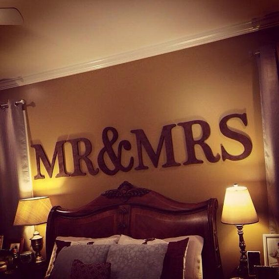 Large Mr & Mrs Sign bedroom sign Mr and Mrs Letters by LetterMania
