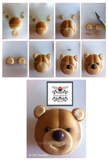 TEDDY BEAR CUPCAKES TUTORIAL - Cake Central Community
