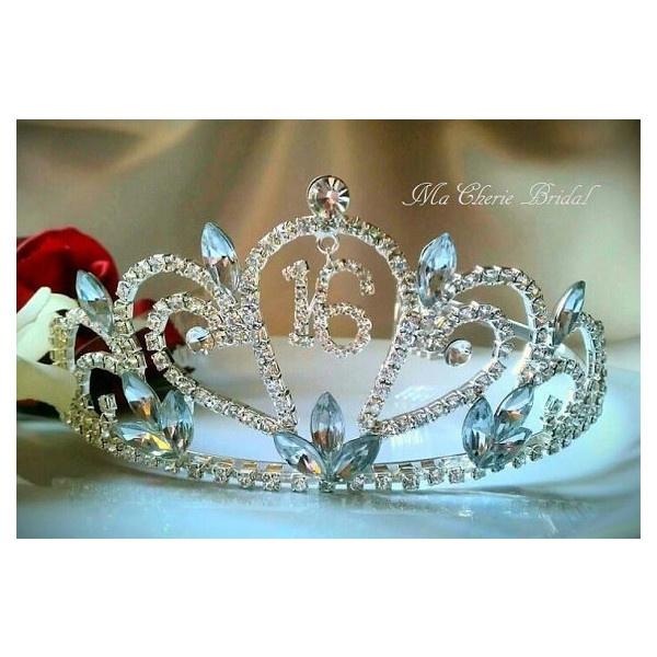 rosemary522's save of Sweet 16 Tiara Rhinestone Tiara Crown Headband... via Polyvore LOVE IT