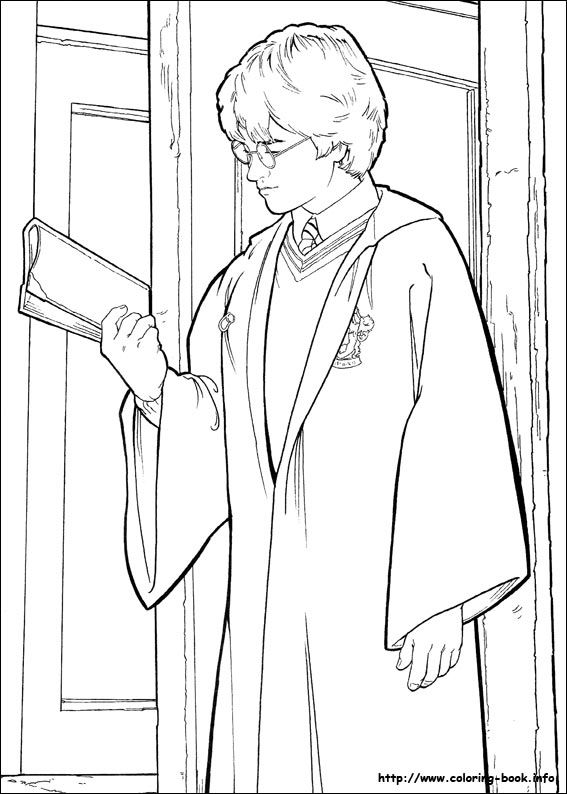 17 best images about coloring pages  harry potter  on