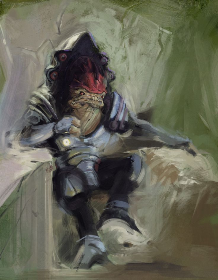 I bow down to the artist who made this. Seriously, whoa. #MassEffect #Wrex