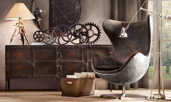 Industrial designe Ipari anyagok a dekorációban: beton, acél, újrahasznosított faanyag