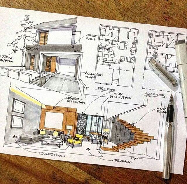 38 best sketch images on Pinterest Architectural sketches