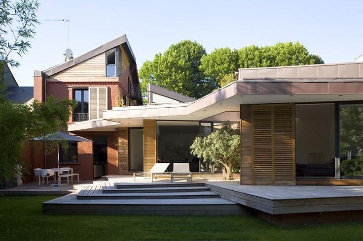 Espaces atypiques maison contemporaine bords de marne for Atypique maison