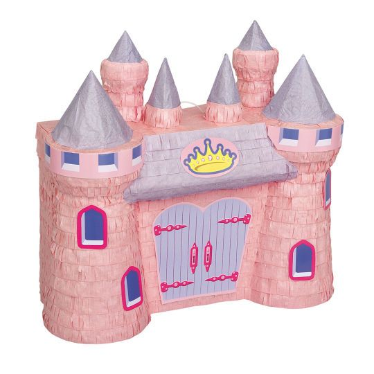 <div>Throw a party fit for a princess with our beautiful Princess Castle Pinata. This pretty pin...