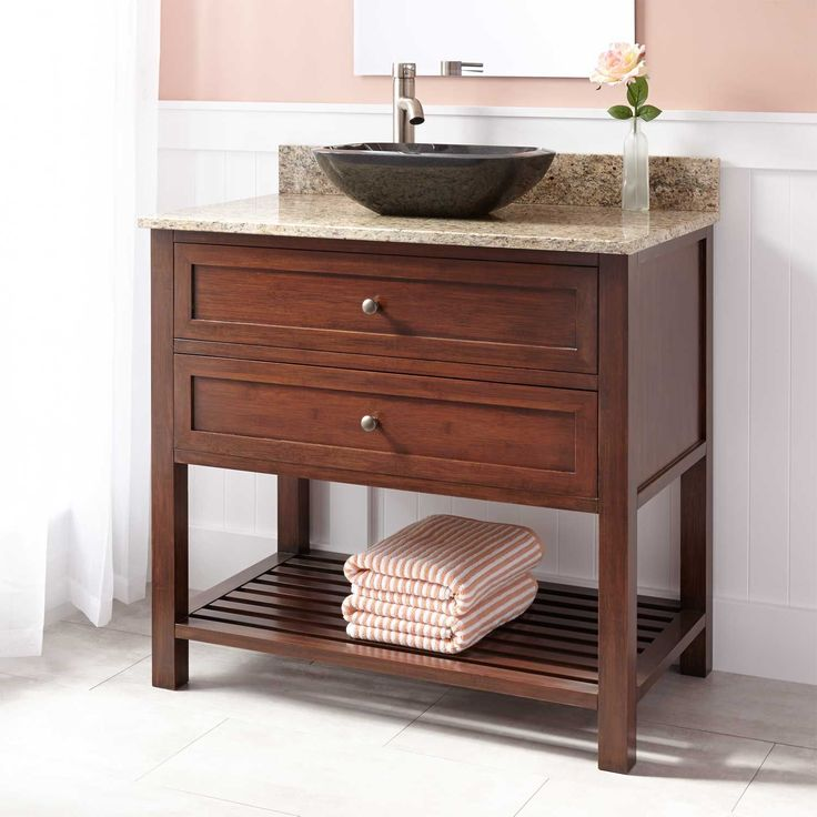 Best 25 vessel sink vanity ideas on pinterest vessel for Vessel sink vanity ideas