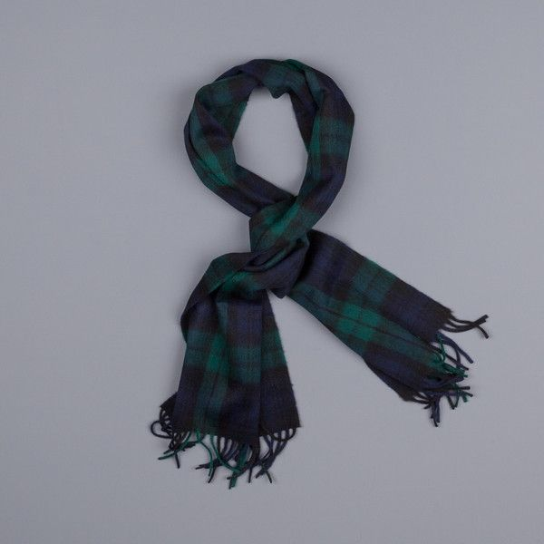 Drake's Wool Blackwatch Tartan Scarf