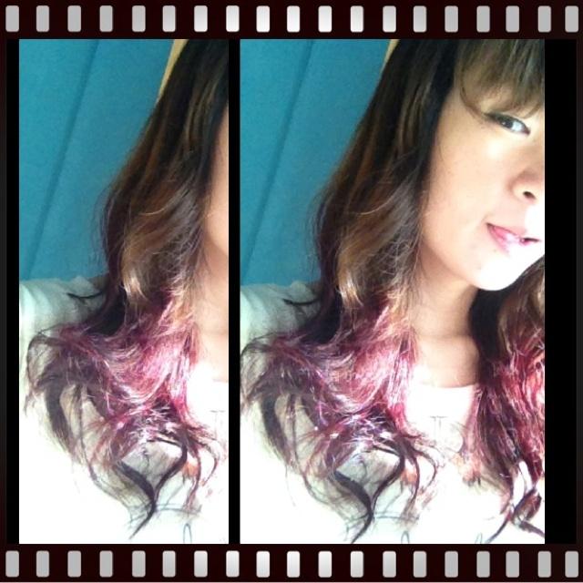 Violet Red Dip Hair !!