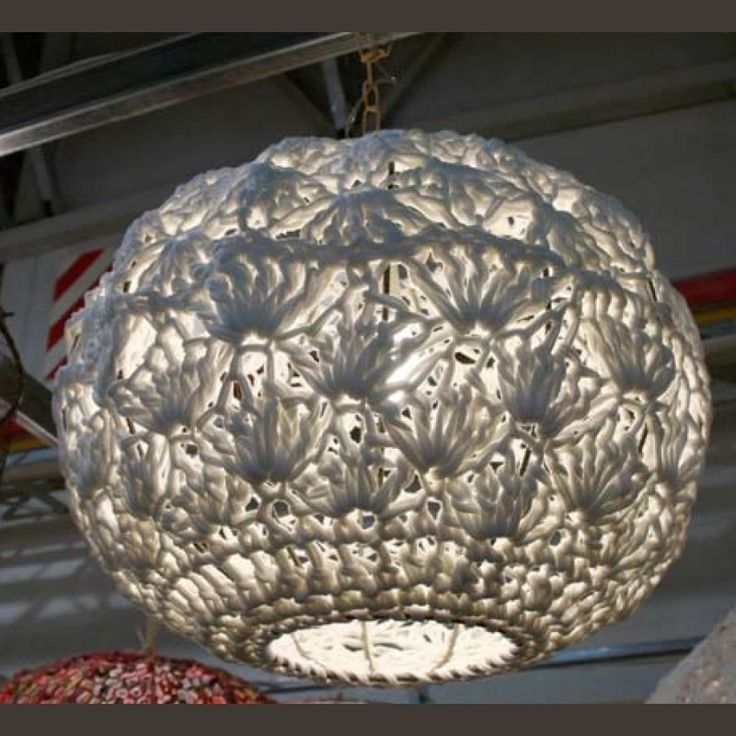 61 best crochet lamp shades images on Pinterest | Lamp shades ...