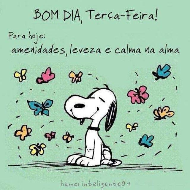 Bom Dia Terça Feira Bom Diaboa Tardeboa Noite Snoopy