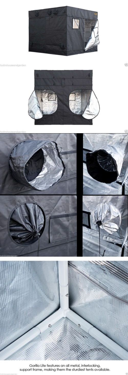 Tents Tarps and Shelves 178993 Gorilla Grow Tent Lite Line 8 X 8 Hydroponic Greenhouse  sc 1 st  Pinterest & The 25+ best Ebay greenhouse ideas on Pinterest | Camping stove ...