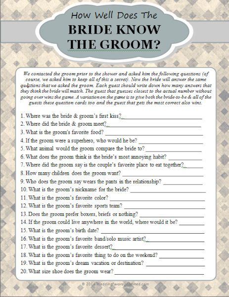 how well does the bride know the groom game wedding pinterest bridal shower bridal and bridal shower games