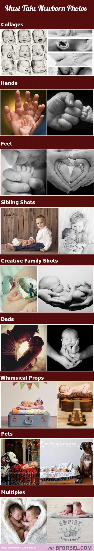 schöne #Ideen für verschiedene #Babyfotos