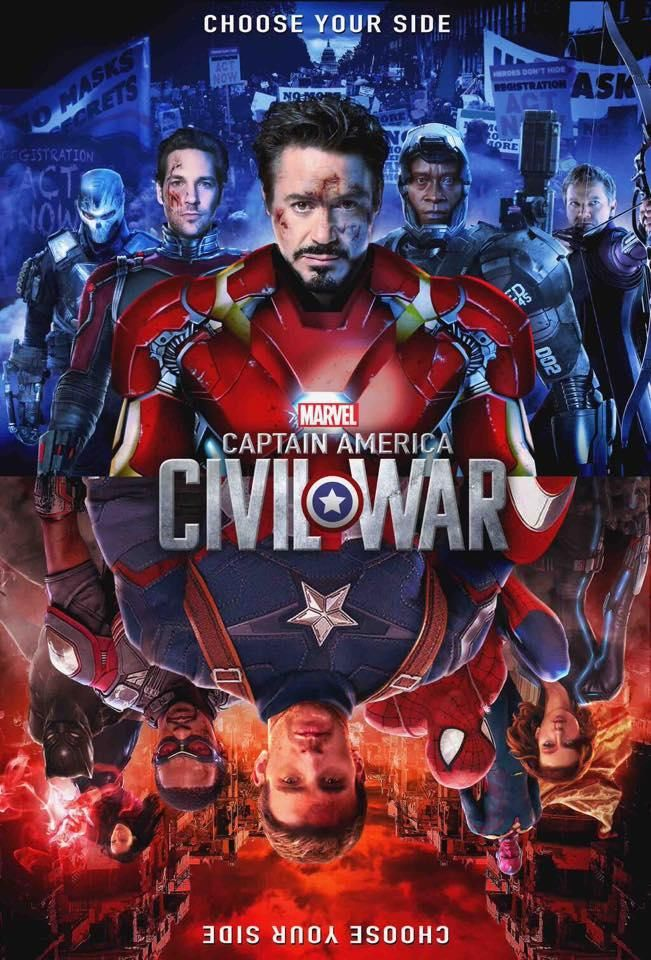 Civil War - so sad I have to choose a side, but I will always side with Captain America.