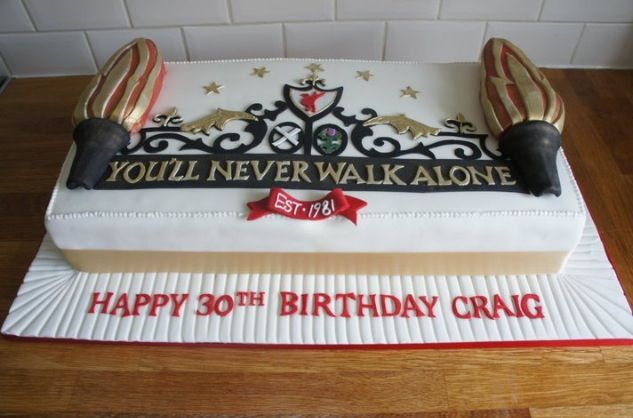 Liverpool Fc Birthday Cake ️ 84 Pinterest Birthday