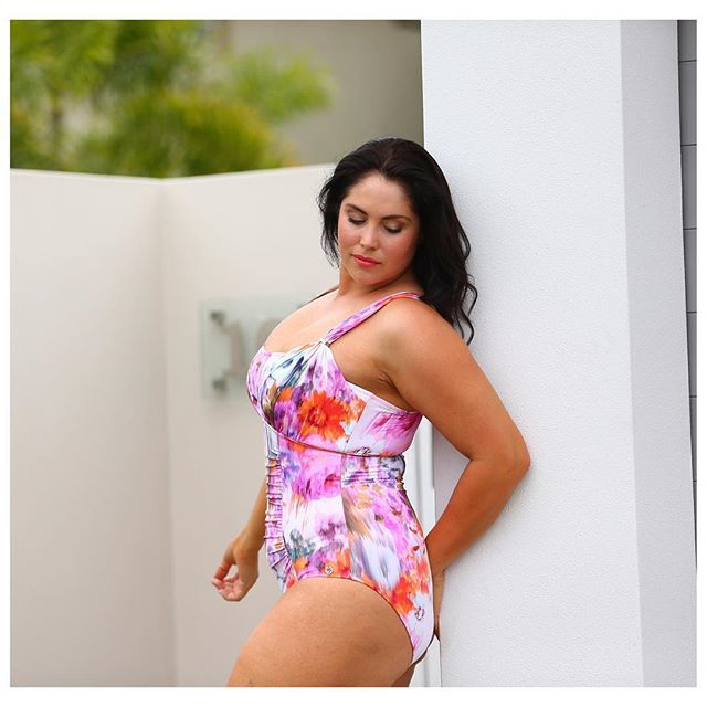 You know the old saying, always pretty in pink - Watercolour over the shoulder #curvyswimwear http://www.curvyswimwear.com.au/collections/our-swimwear-collection-curvy-swimwear