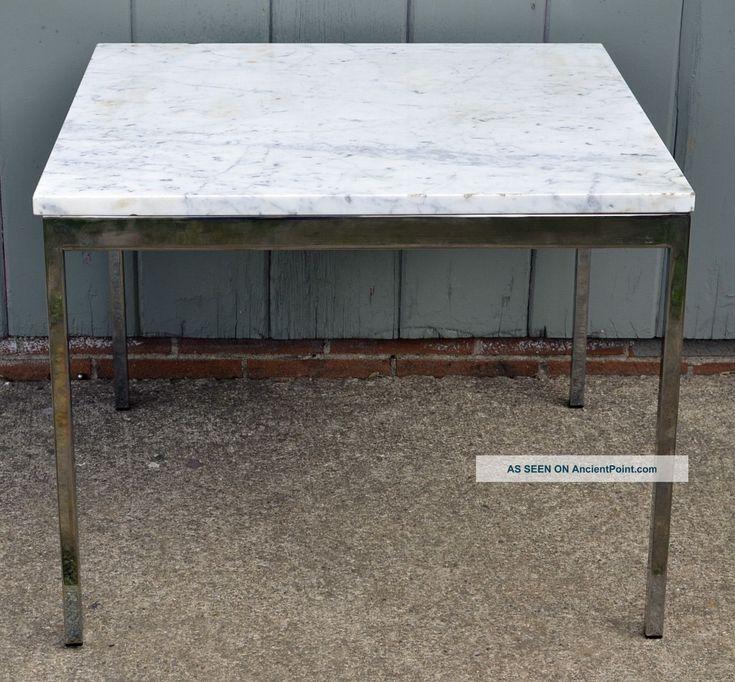 Mid - Century Modern Knoll Style Marble On Chrome End Table Vintage Milo Baughman 1900-1950 photo (I don't like the shiny legs, but maybe something similar). Ragionavamo con l' architetto che crediamo che un tavolo quadrato 140x140 cm sarebbe ideale. Cosa ne pensi?