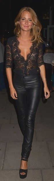 leather & lace - perfect date night outfit