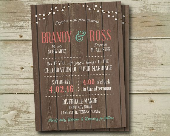 Wedding Invitation Invitations Invite Invites by SAEdesignstudio
